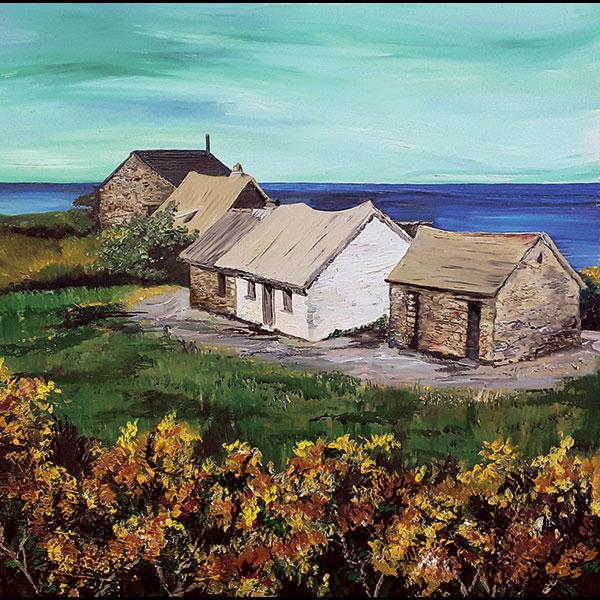 Pembrokeshire art commissions: Strumble cottages