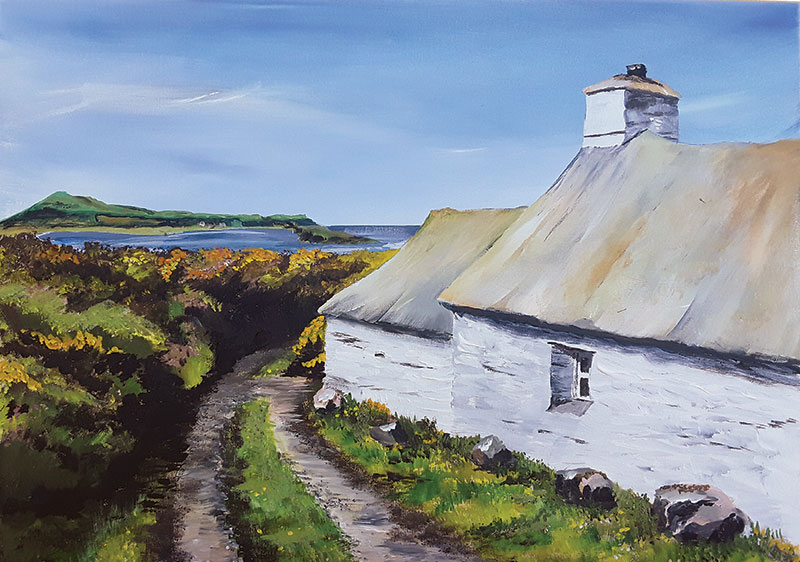 Pembrokeshire Original Artworks:'Seaside Cottage'