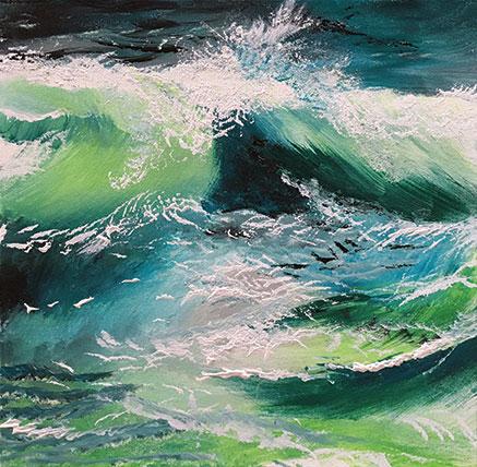 Art in Pembrokeshire: Splash by Pembrokeshire Artist Jill Jones