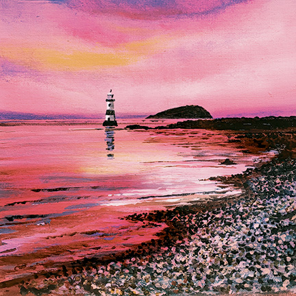 Wider Wales - Penmon Point in Pink